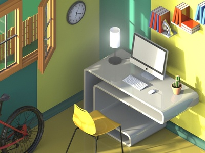 Isometric room for you