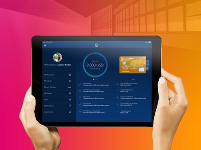 Bank of TRUST - iPad App Concept visual design ux ui mobile flat iphone brand identity bank app ipad