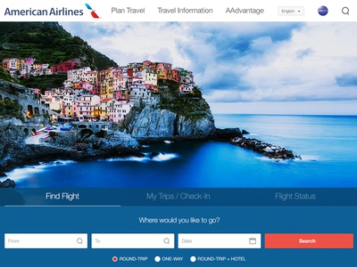 American Airlines Responsive Redesign