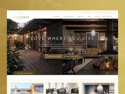 CityHome Collective moodboards real estate black mustard prestigious cityhome collective web design ux ui