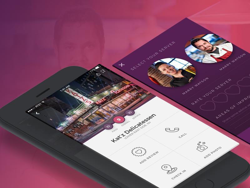 IBM iX Case Study logo mobile app brand identity visual design staff review review food katz delicatessen mobile app mobile app design ux ui