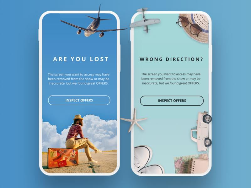 Error Screens brand identity ui illustration animation app flat branding ux visual design