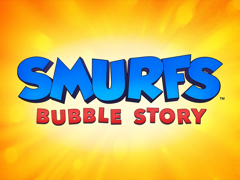 Smurfs Bubble Story Title Treatment