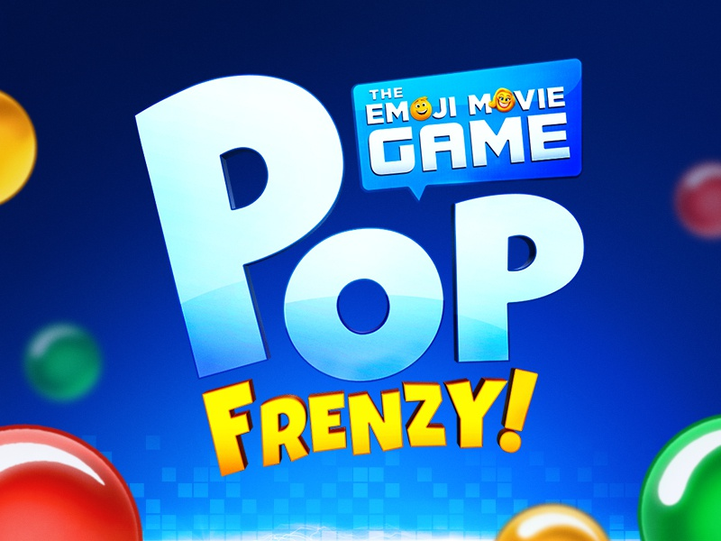 Pop Frenzy! The Emoji Movie Game Logo