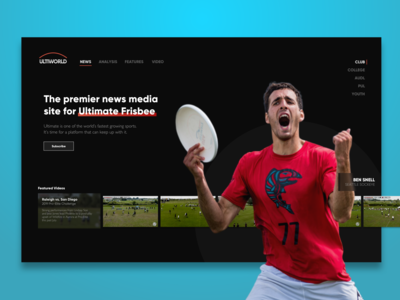 Ultimate Frisbee Rebrand Concept