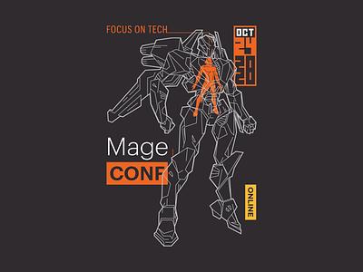 MageCONF Tech Suit character focus cyberpunk robot future suit tech ecommerce atwix magento