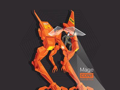 MageCONF Mech spotlight driver space machine sci-fi character future cyberpunk mech cyborg robot ecommerce magento atwix mageconf