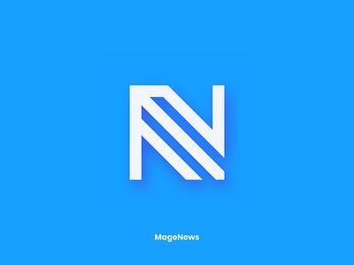 MageNews Logo Design Process m concept process research icon ecommerce atwix magento n sign logotype logo