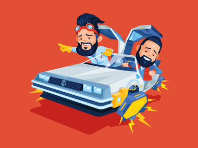 Magetalk Wallpapers 2019 future illustration e-commerce cartoon character magetalk delorean back to the future atwix ecommerce 2 magento