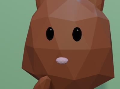 Brown Bunny Close Up