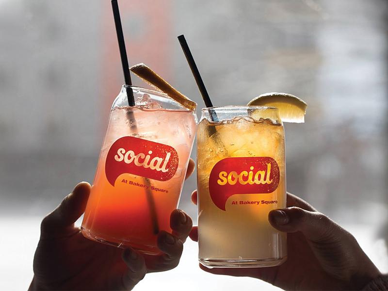 Social Branding clink restaurant social type mark logo identity branding pittsburgh actual size