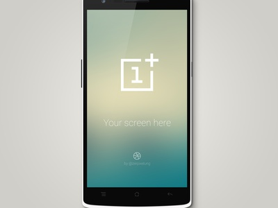 OnePlus One Mockup PSD freebie free psd mockup oneplus android smartphone phone template