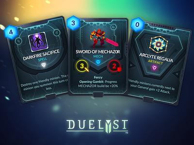 Duelyst Cards game assets assets game design cards card game duelyst