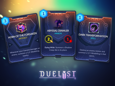 Duelyst Cards - Abyssian game assets assets game design cards card game duelyst
