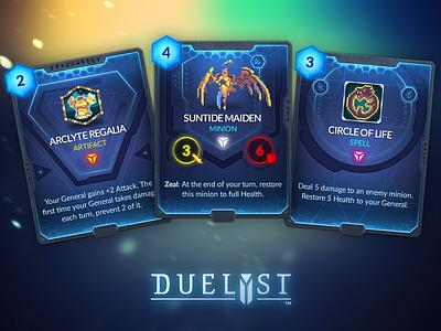 Duelyst Cards - Lyonar game assets assets game design cards card game duelyst