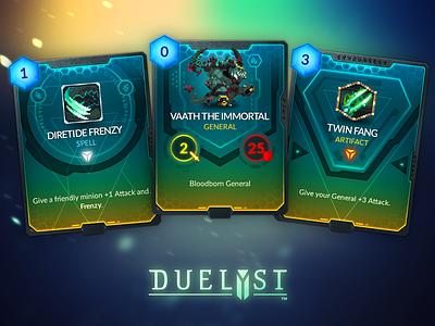 Duelyst Cards - Magmar game assets assets game design cards card game duelyst