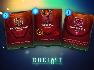 Duelyst Cards - Songhai game assets assets game design cards card game duelyst
