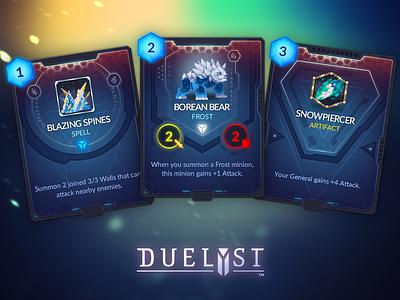 Duelyst Cards - Vanar game assets assets game design cards card game duelyst