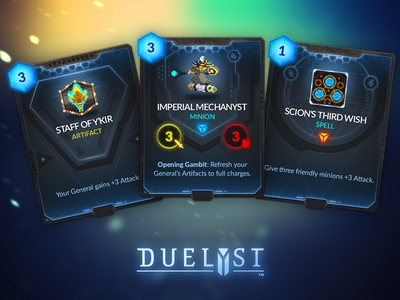Duelyst Cards - Vetruvian game assets assets game design cards card game duelyst