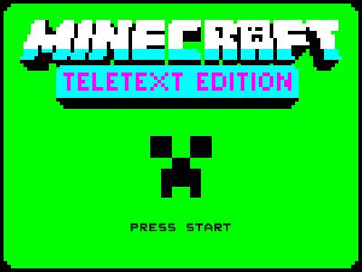 Minecraft Teletext Edition pixelart videotext teletext minecraft