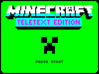 Minecraft Teletext Edition