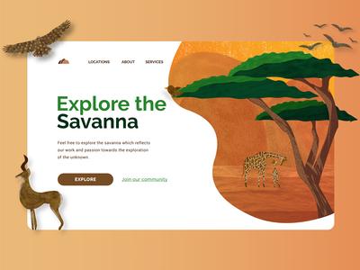 Savanna - Travel Website Concept