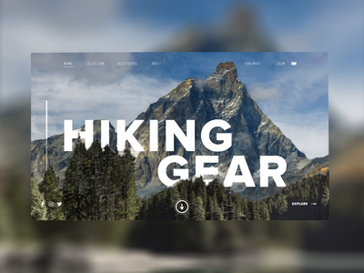 Online Shop - Hiking Merch website ux ui responsive store shop e-commerce animation interaction aftereffects ae