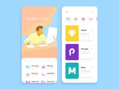 Designer Tools - App UI Concept