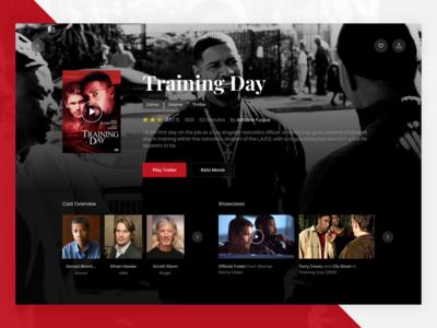 Movie Details dark actors details web ui flat trailer tv cinema film movie