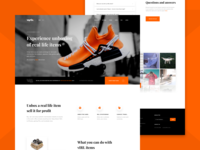 vIRL Landing ui csgo shoes trade skins virl opskins wax esport gaming game blockchain landing page concept landing