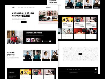 368 Website landing page concept youtube website studio casey neistat 368