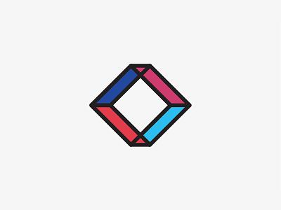 Cube logo icon cube