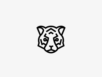 Le Tigre tigre icon logo tiger