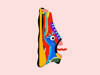 Sneaker Monster aftereffects illustrator animation illustration monster sneaker