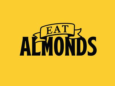 Eat Almonds almonds branding logo