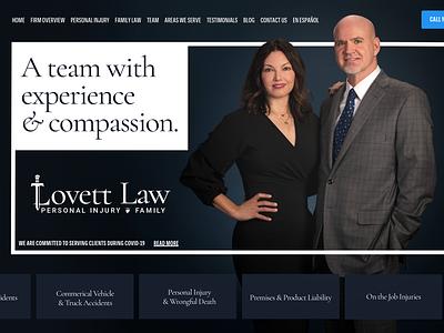 Lovett Law logo branding graphic design ui