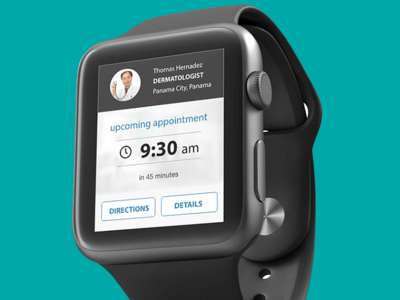 Appointment notification Apple watch