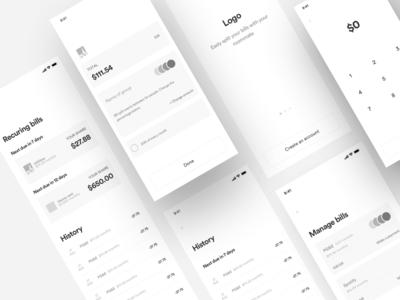 Wireframe - Finance App