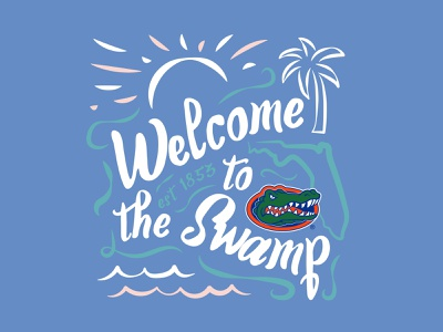 Gators - Southern Prep orlando nickhammonddesign.com nhammonddesign nick hammond design nick hammond apparel design apparel palm tree the swamp ncaa florida gators
