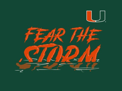 Fear the Storm florida orlando tshirt design apparel design apparel hurricanes swamp fear the storm miami hurricanes miami nhammonddesign nickhammonddesign.com nick hammond design nick hammond