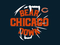 Bear Down florida orlando tshirt design apparel design apparel nickhammonddesign.com nhammonddesign nfl chicago bears