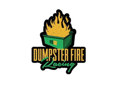 Dumpster Fire Racing nickhammonddesign.com nhammonddesign nick hammond design nick hammond mitch ropelato logo design logo fire racing dumpster fire racing