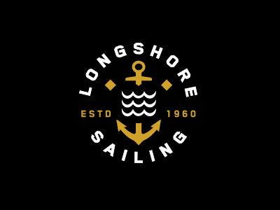 Longshore Sailing nickhammonddesign.com nhammonddesign nick hammond design nick hammond waves anchor sailing longshore sailing longshore logo design lockup