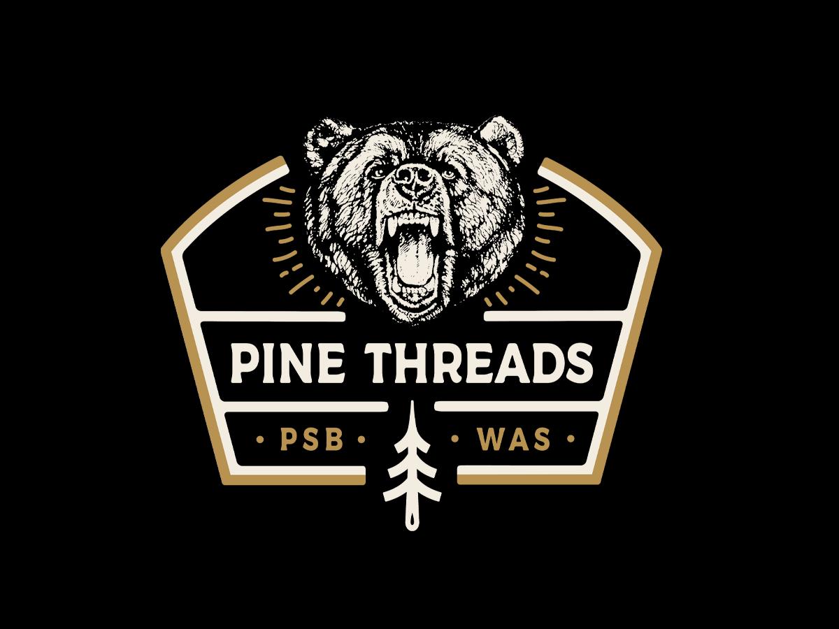 Pine Threads Bear Crewneck nhammonddesign nickhammonddesign.com nick hammond nature outdoor adventure washington screenprinting apparel design apparel bear illustration bear bear crewneck pinethreads.com pine threads