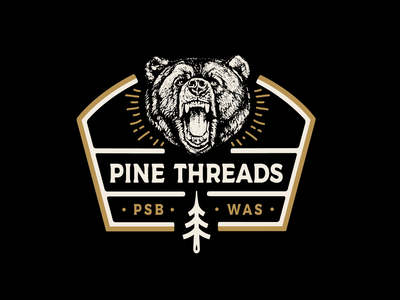 Pine Threads Bear Crewneck