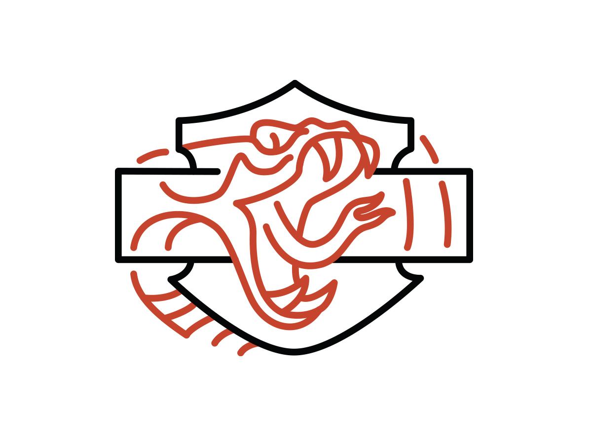 B&S Snake tshirt design tshirt bar  shield bs snake harley davidson harley-davidson harley