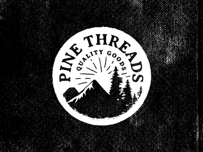Pine Threads - Quality Goods florida orlando nickhammonddesign.com nhammonddesign nick hammond design apparel design tshirt lockup landscape pacific northwest northwest pnw quality goods