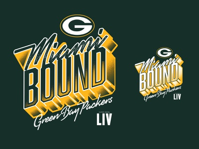 Miami Bound florida orlando tshirt design nickhammonddesign.com nhammonddesign nick hammond design nfl nick hammond tshirt apparel graphic design apparel green bay packers green bay super bowl miami bound
