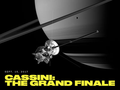 Cassini's Grand Finale planet cosmic satellite side project intro science spacecraft cassini nasa homage space typography