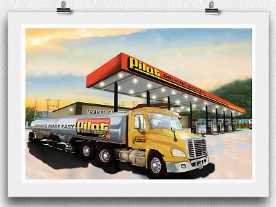 Driving Made Easy • Pilot vehicle wrap adobe illustrator 3d art illustration industrial design